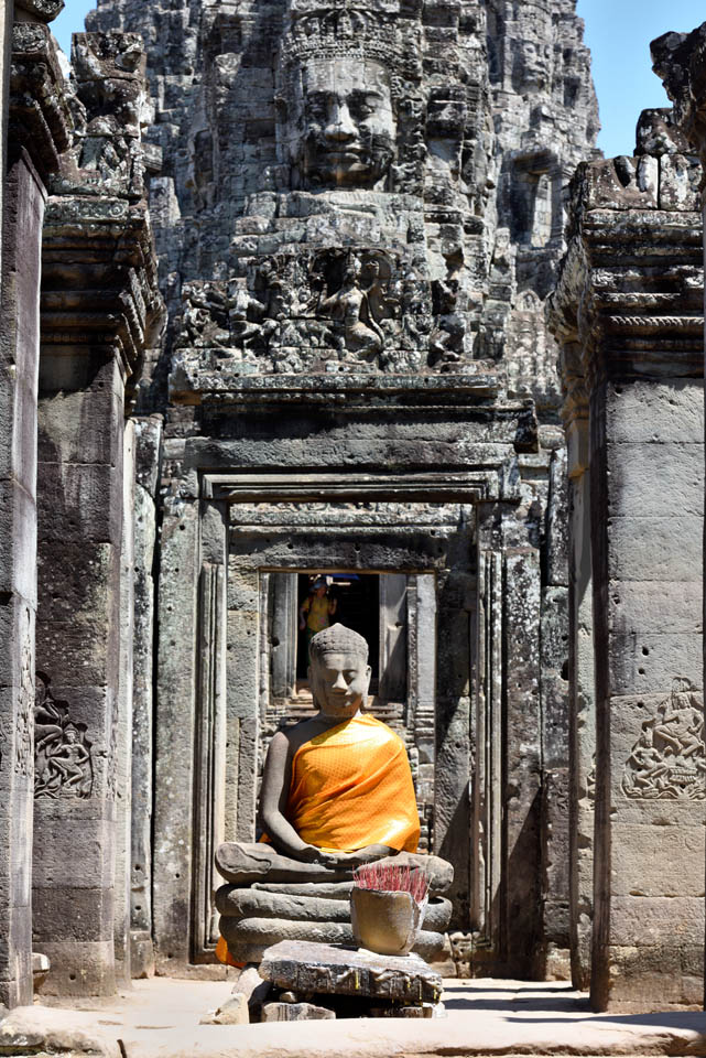 Entrance of the Bayon temple in Angkor