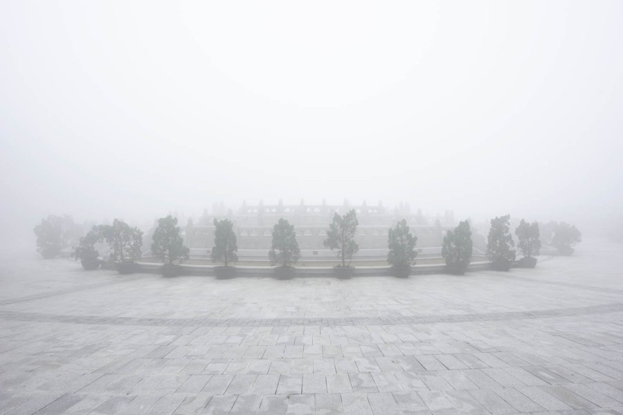 Fogy day in Lantau island next to the Big Buddha