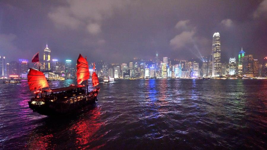 Shimphony of lights in Hong Kong